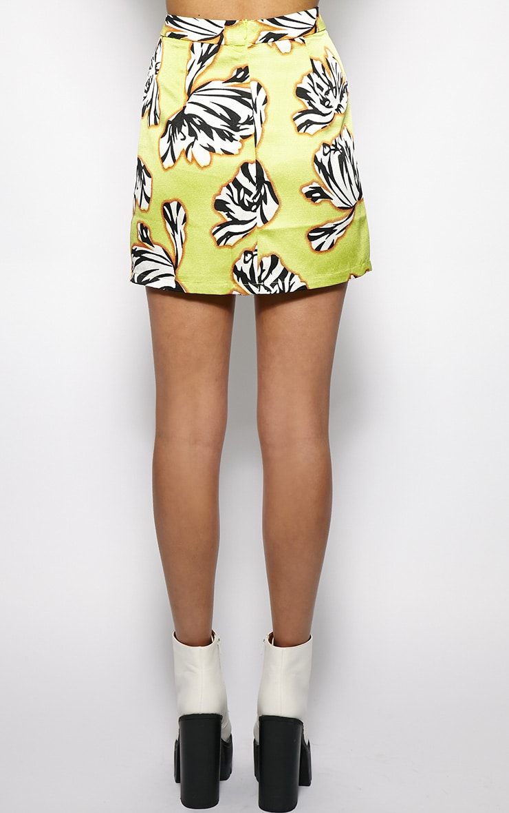 Yasmin Floral A Line Skirt  2