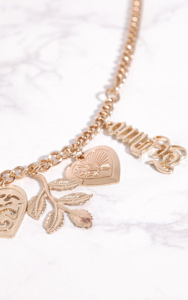 Gold Te Amo Heart Locket Pendant Bracelet 3