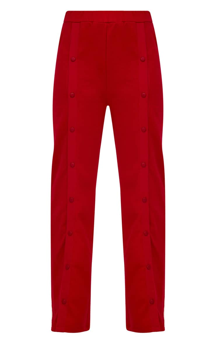 Red Front Popper Wide Leg Joggers 3
