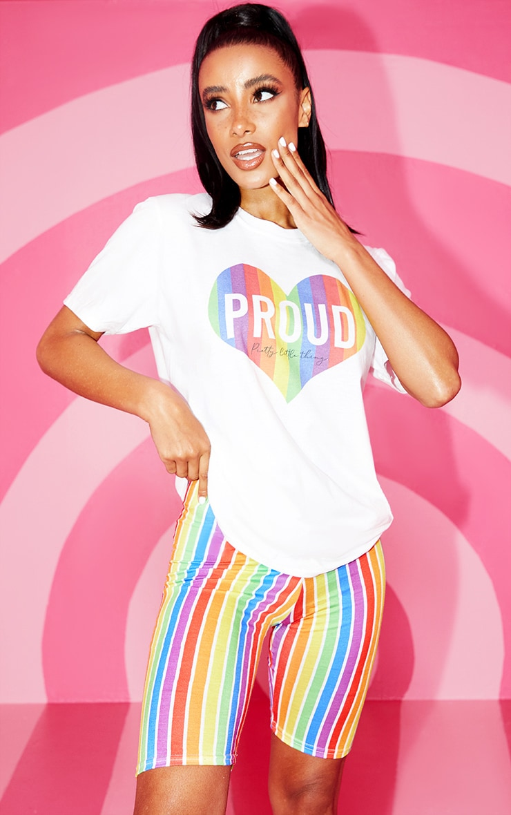 White Slogan Proud Heart TShirt 1