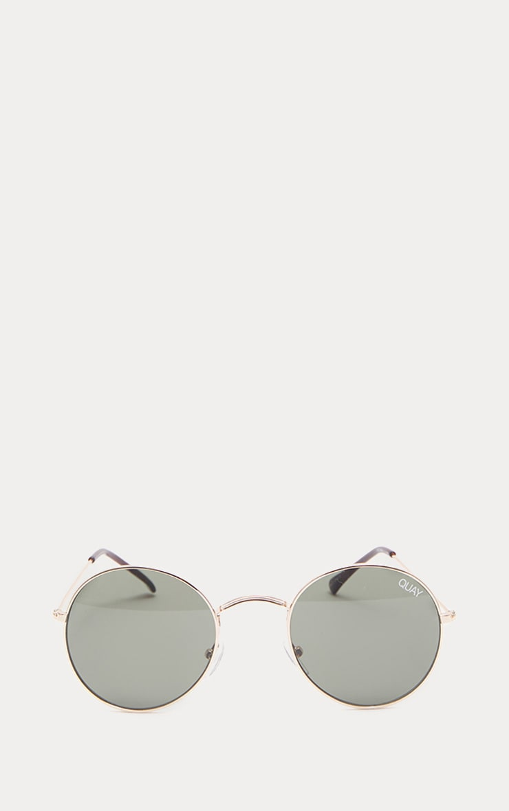 QUAY AUSTRALIA Gold MOD Star Round Sunglasses 2