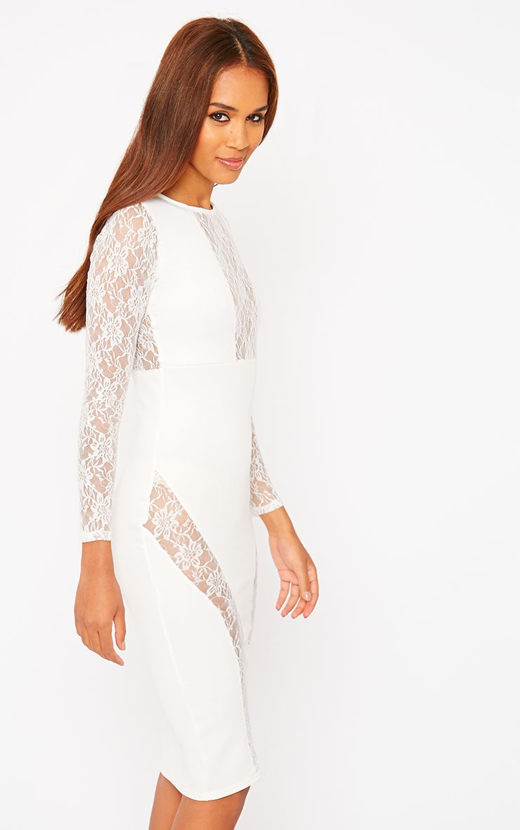 Perla Cream Lace Insert Dress 4