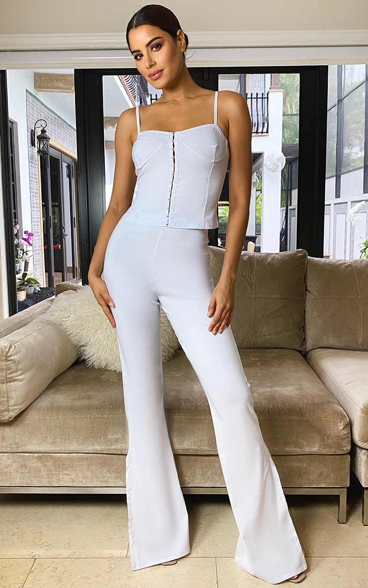 Tall Cream Split Hem Fitted Flares 1