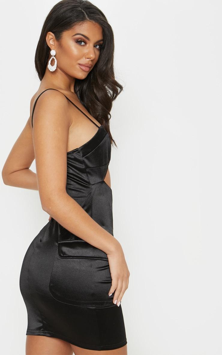 Long sleeve high neck bodycon dress