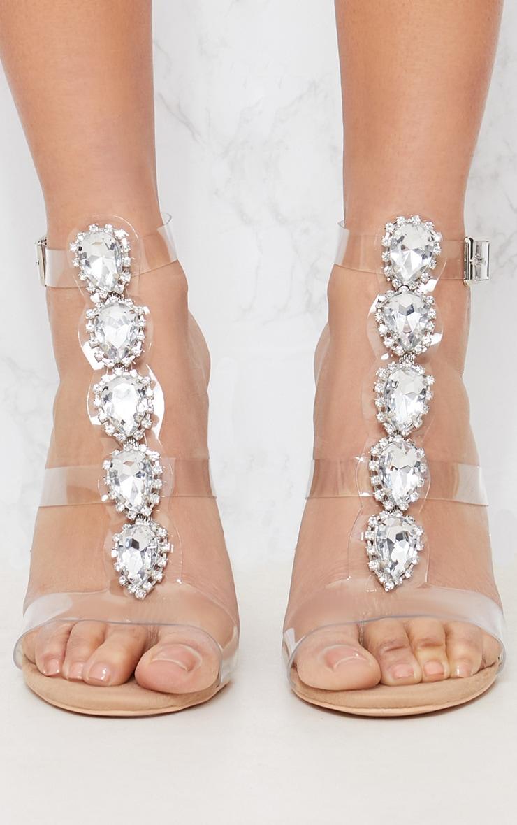 Nude Jewel Heel Sandal 4