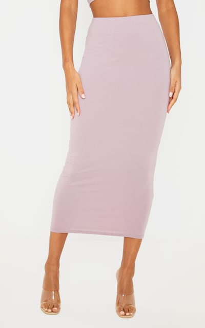Dusty Lilac Cotton Midaxi Skirt