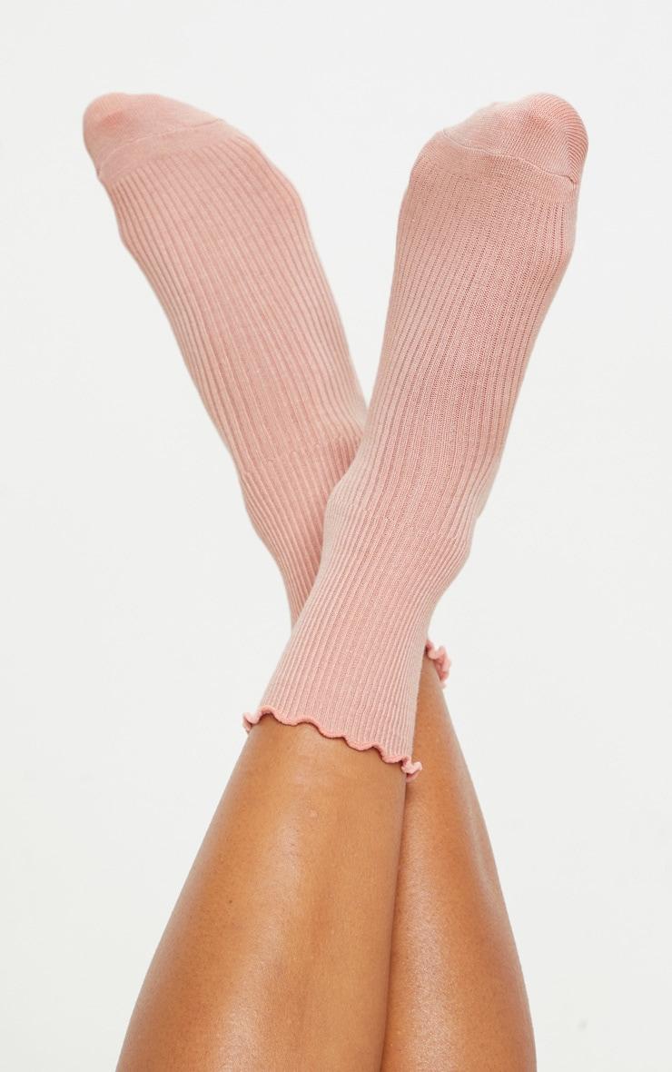 Pink Frill Socks 1