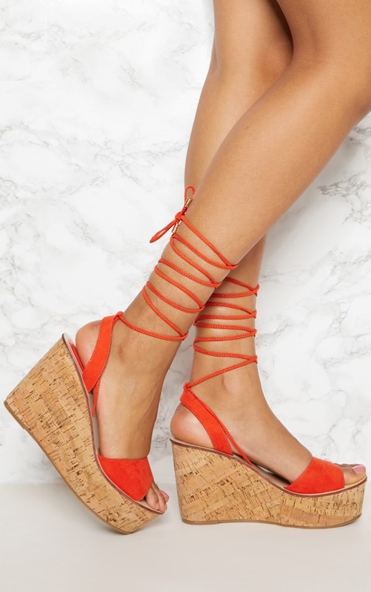 Orange Cork Wedge