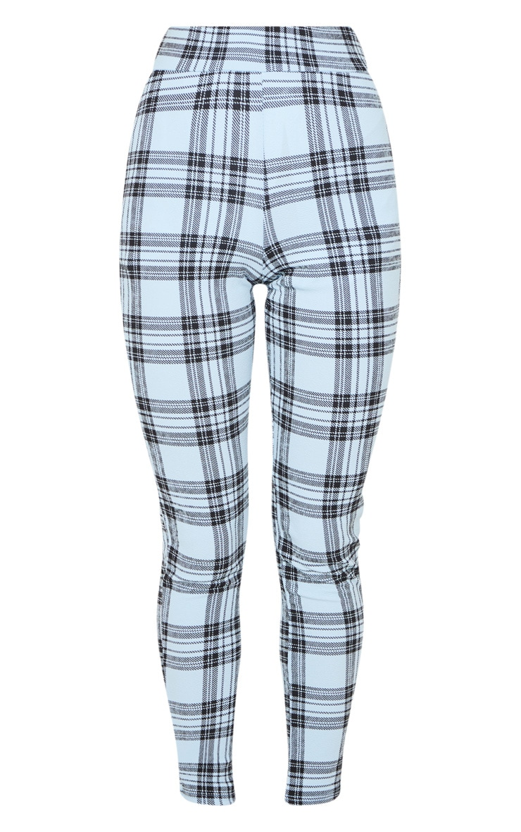 Blue Check Skinny Pants 3