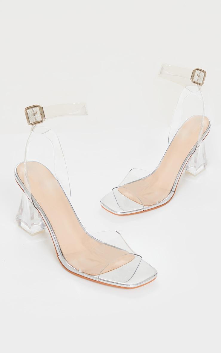 Sandales transparentes à talon bloc conique et bride cheville 3