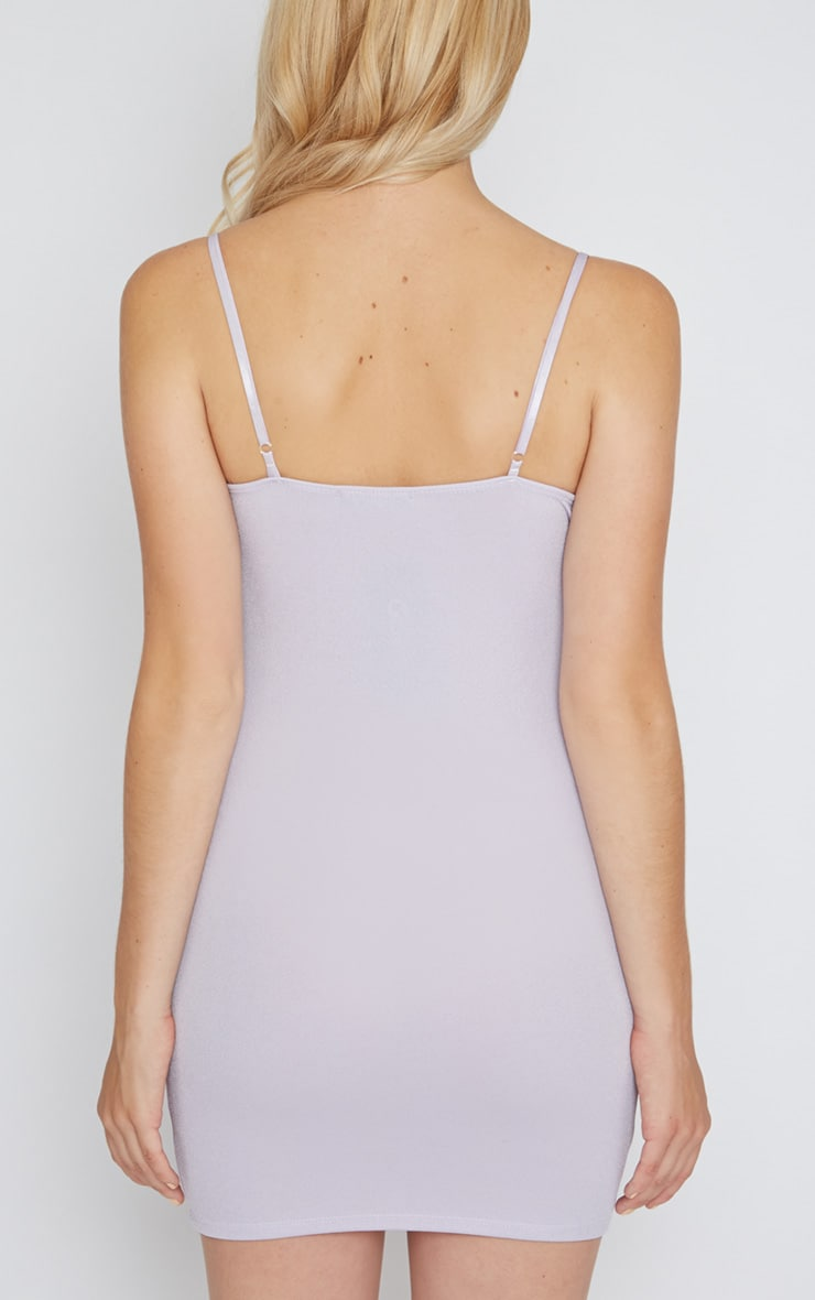 Mona Lilac Strappy Mini Dress  2