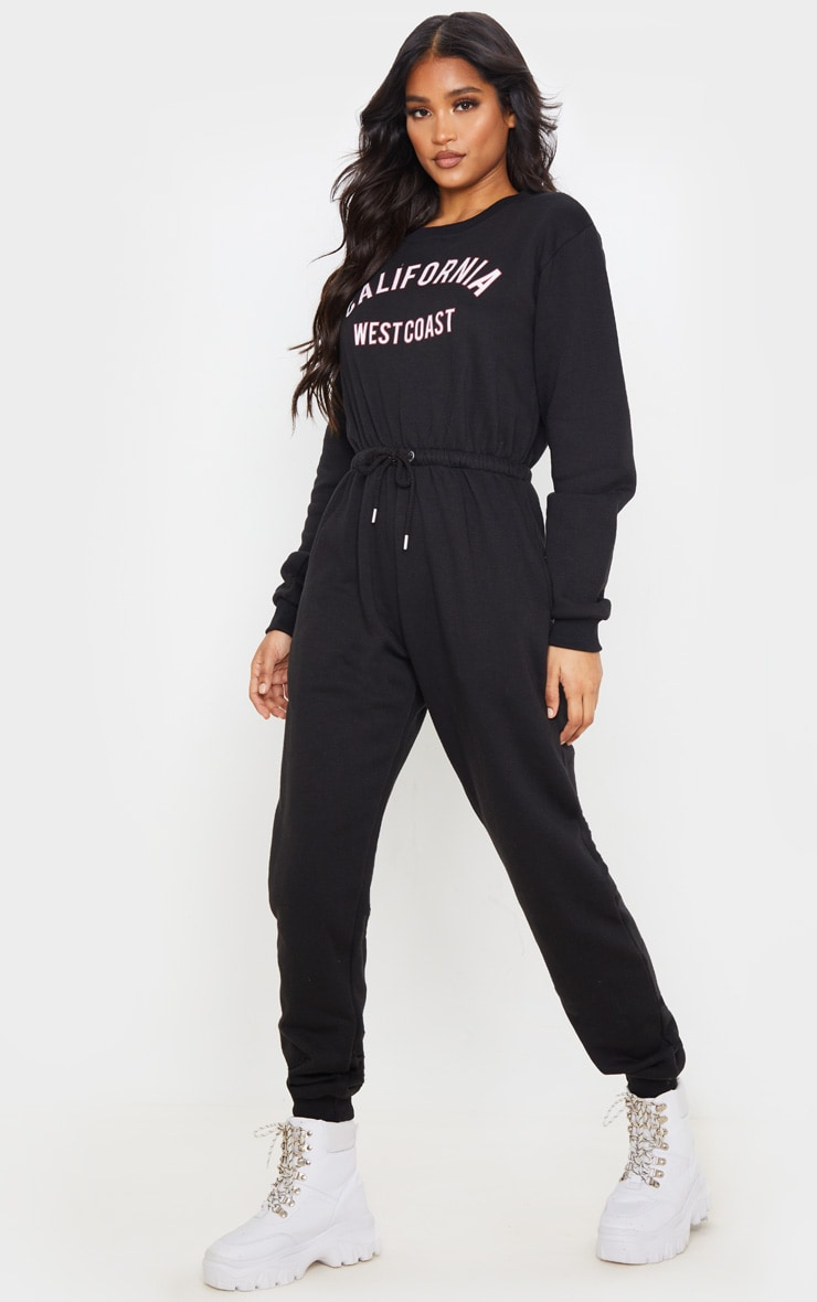 Black California Long Sleeve Jumpsuit 4