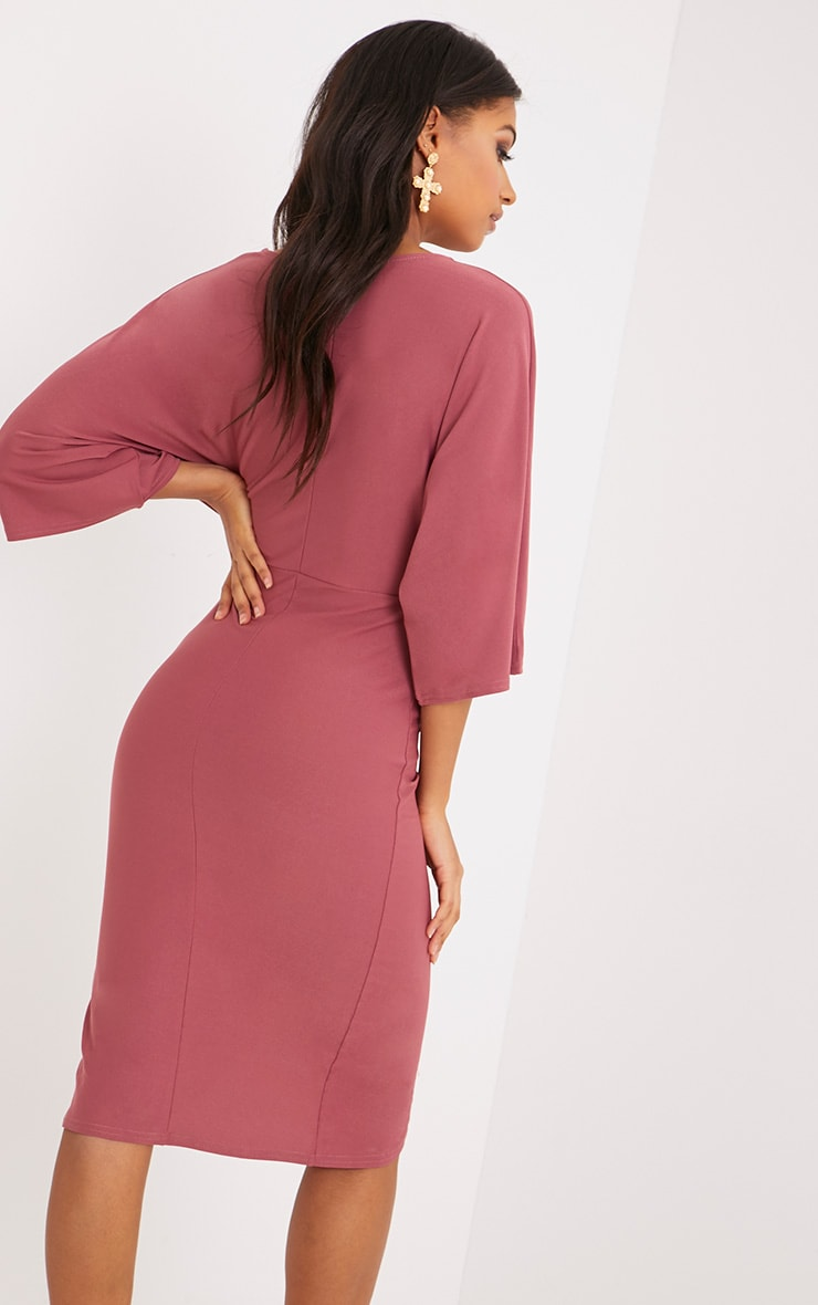 Archer Rose Cape Midi Dress 2