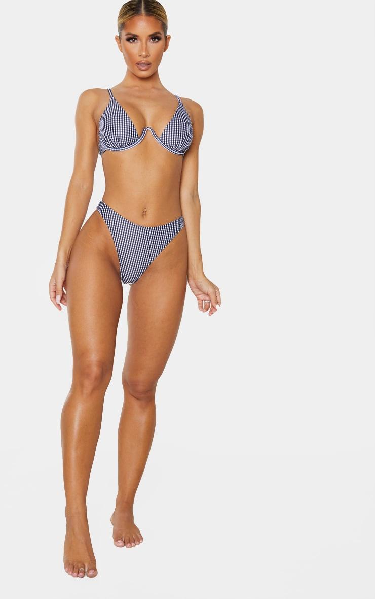 Black Gingham Cheeky Bum Bikini Bottom 5