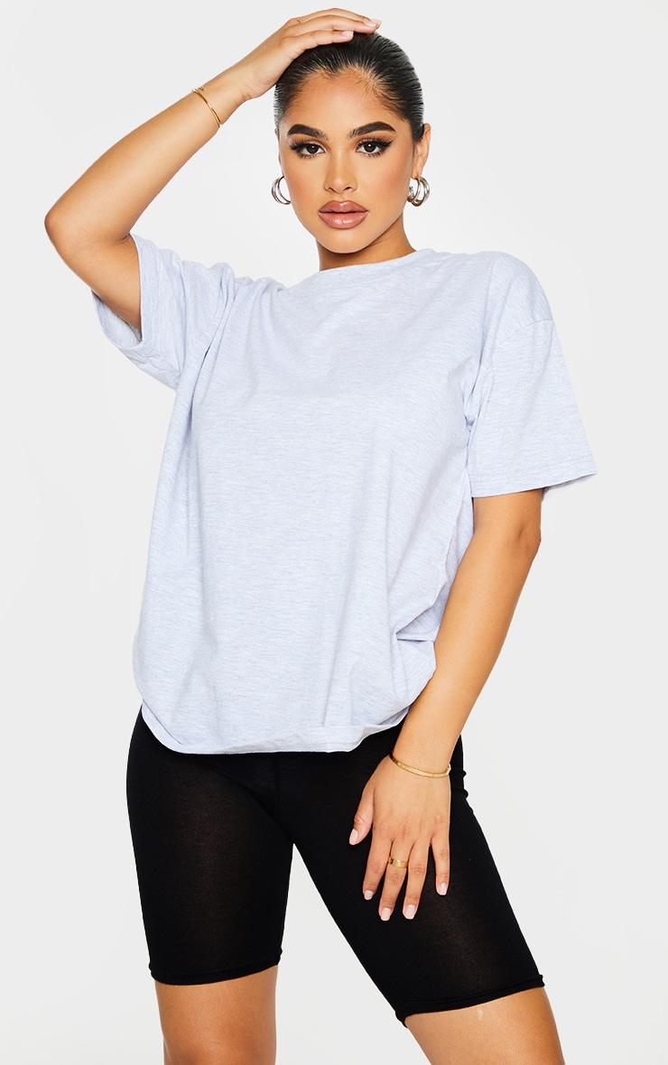 Petite Grey Oversized Boyfriend T Shirt 1