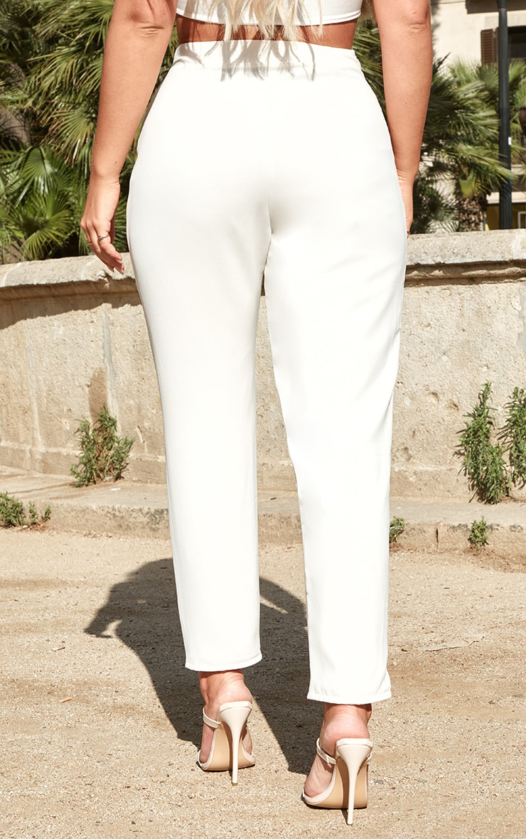 Petite Cream Tailored Trousers 4