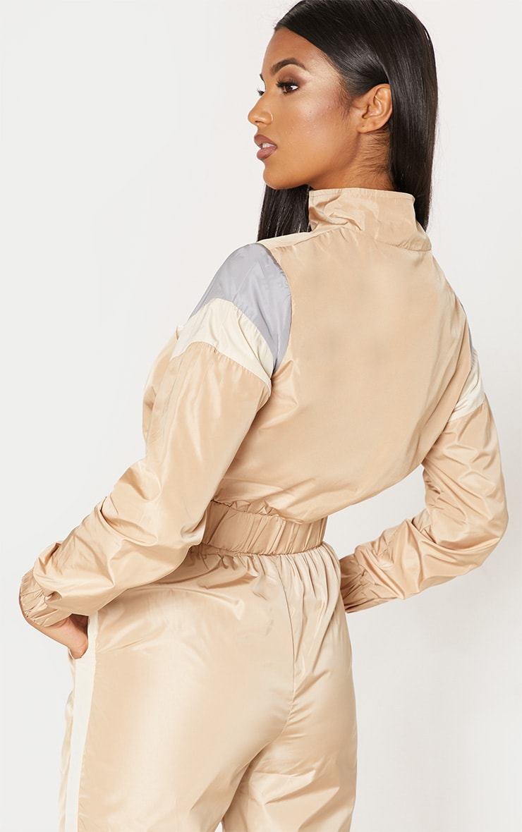 Sand Stripe Shell Tracksuit Top 2