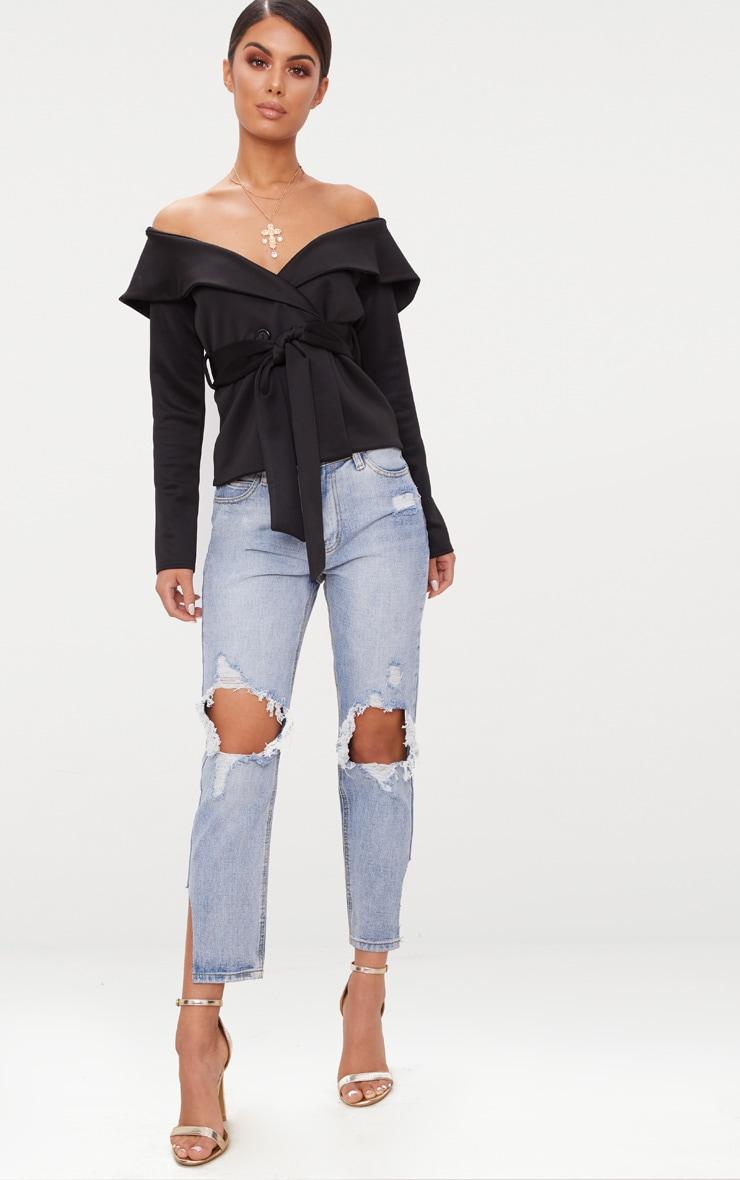 Black Bardot Blazer 3