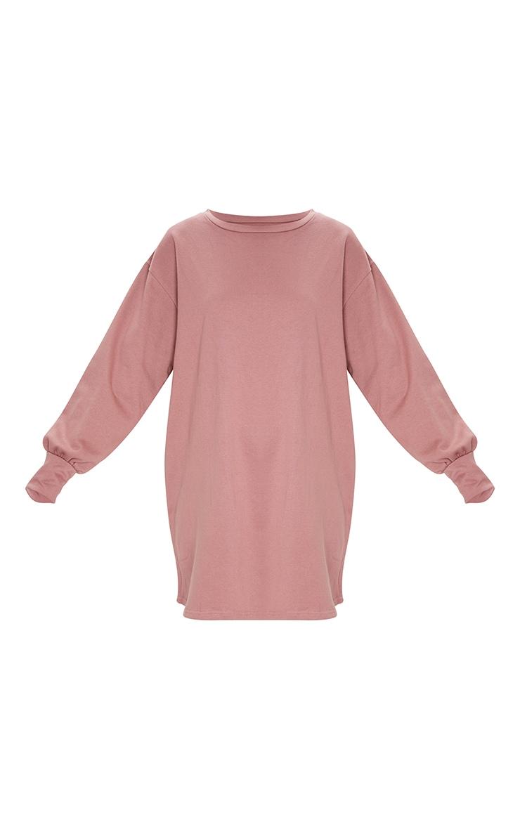 Dark Mauve Oversized Sweater Dress 5