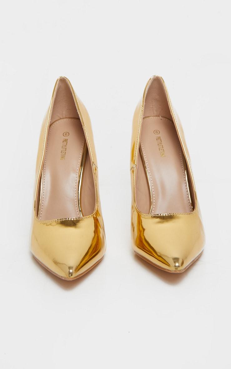 Gold Court Shoes 3