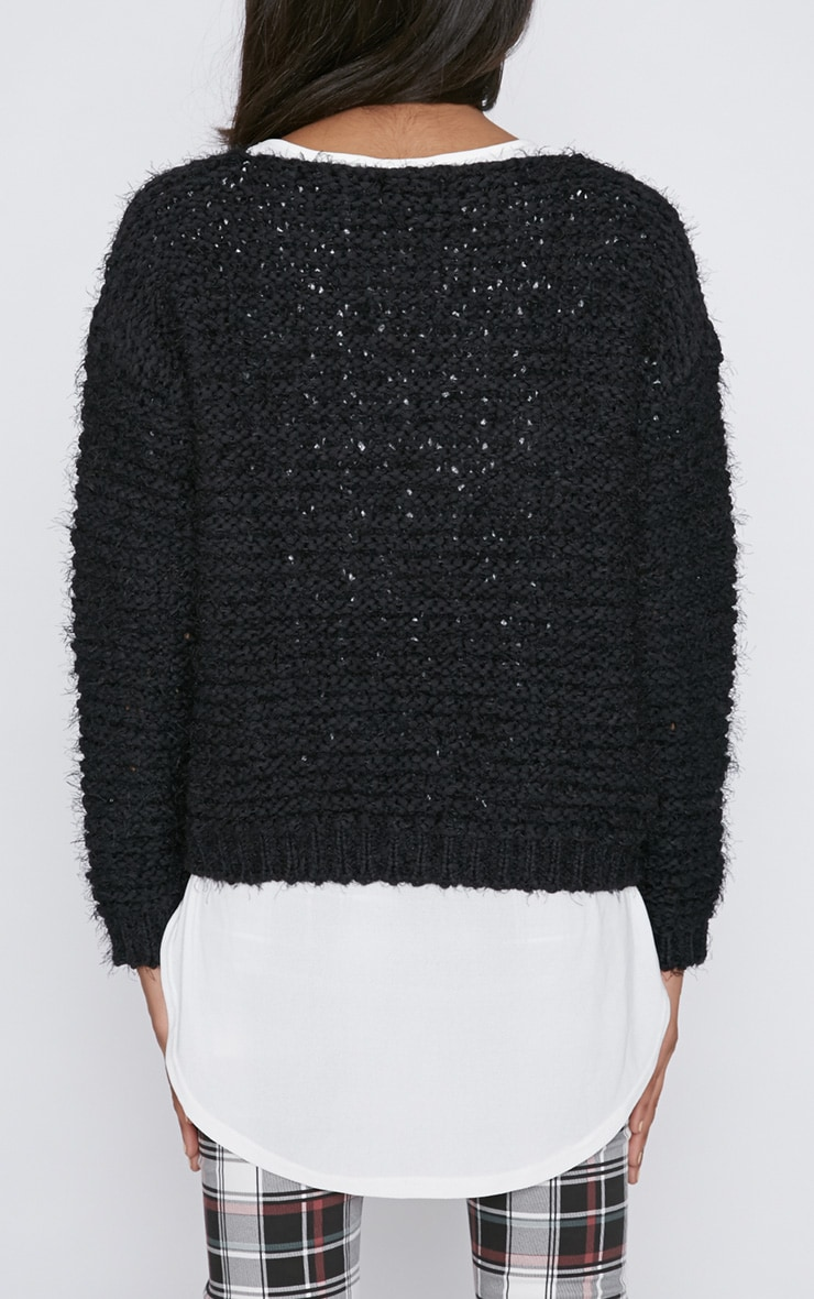 Hadley Black Cropped Jumper  2