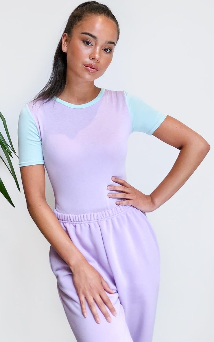 Lilac Jersey Contrast Bodysuit 1