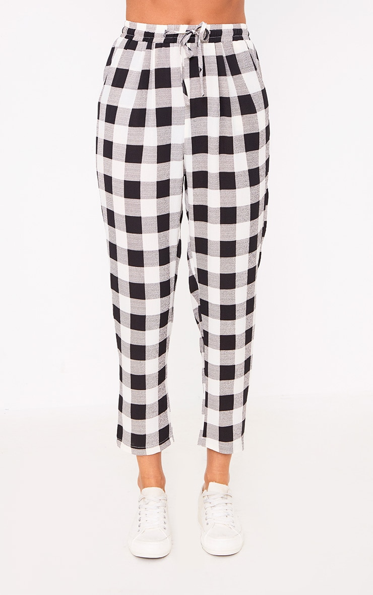Black Check Casual Trousers 2