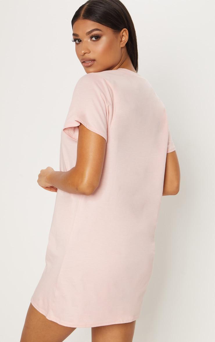Calabasas Pale Pink Oversized T Shirt Dress 2