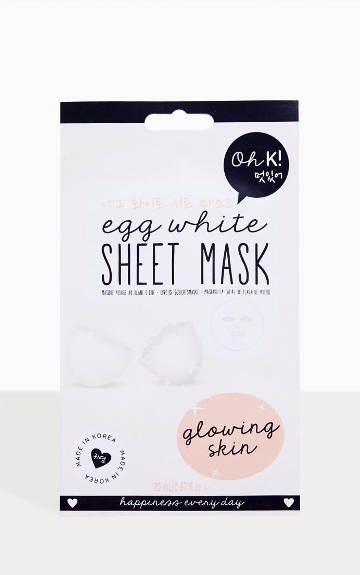 Oh K! Egg White Sheet Mask  2