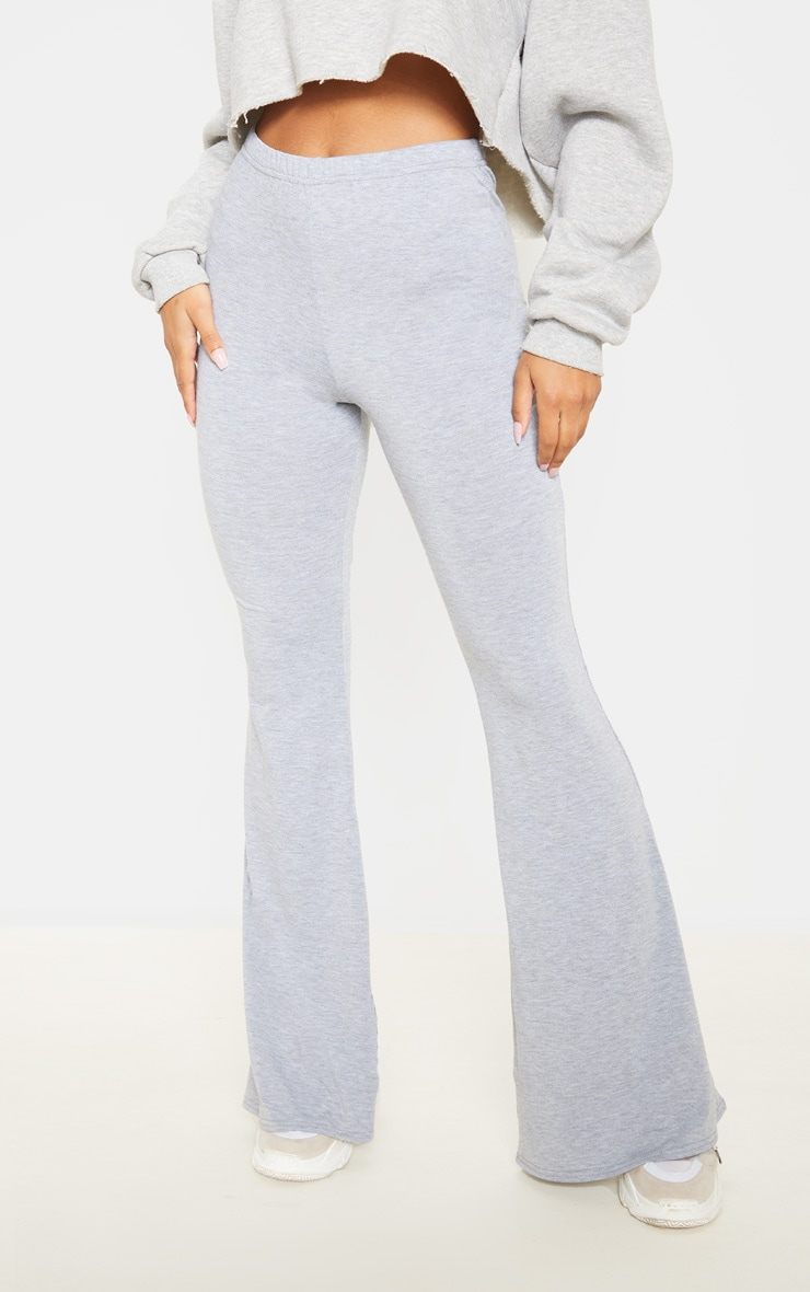 Dusty Rose And Grey Marl Basic Jersey Flare Leg Trouser 2 Pack 2