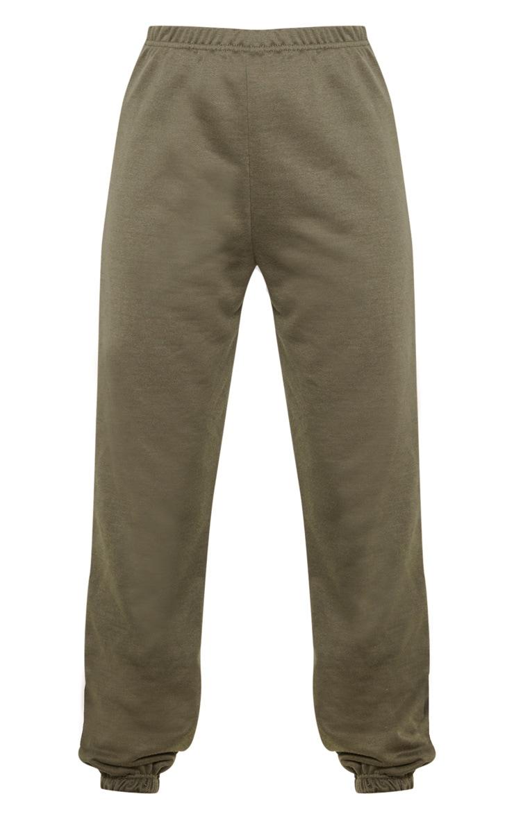 Khaki Basic Cuff Hem Jogger 3