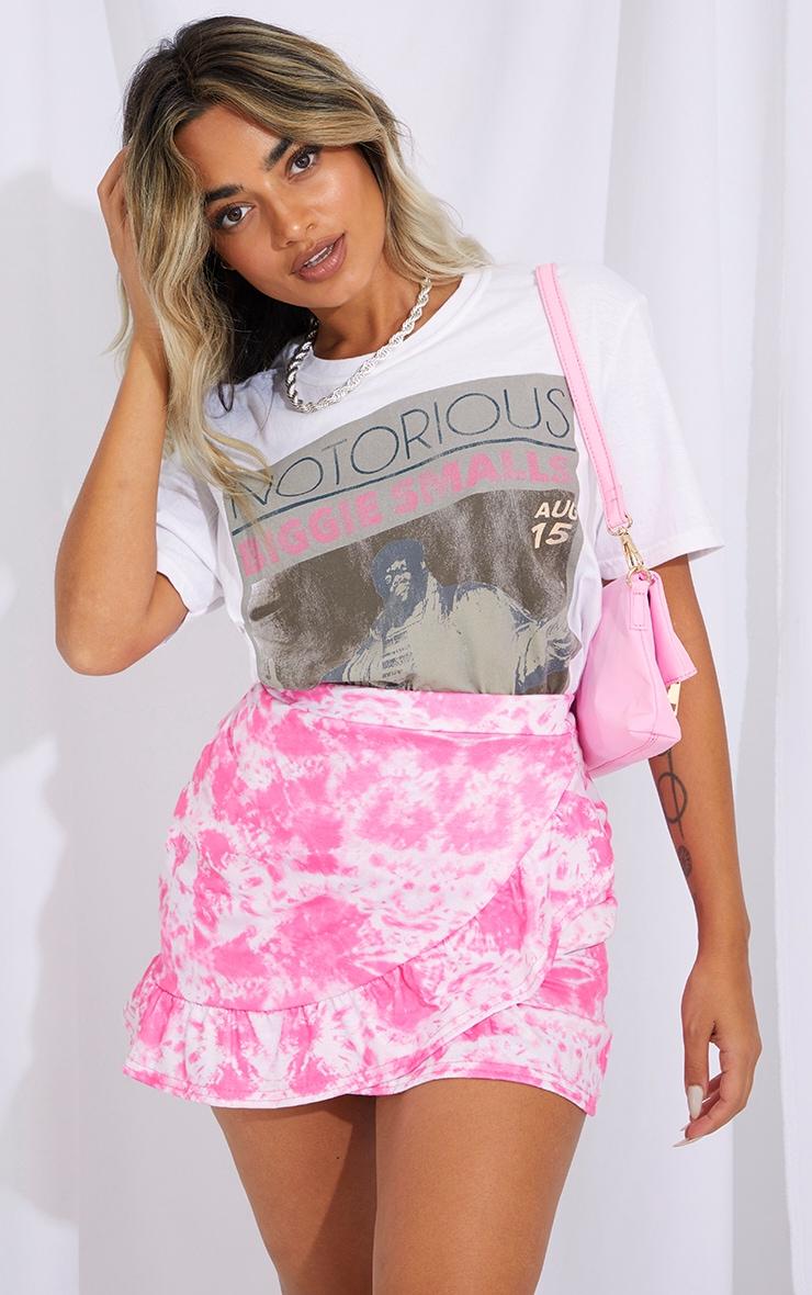 Petite Pink Tie Dye Jersey Mini Skirt 1