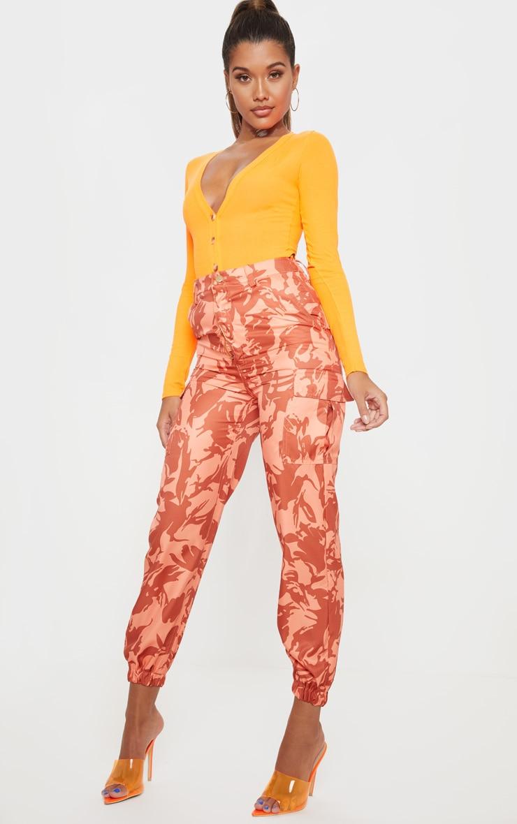 Orange Camo Pocket Detail Cargo Trouser 1