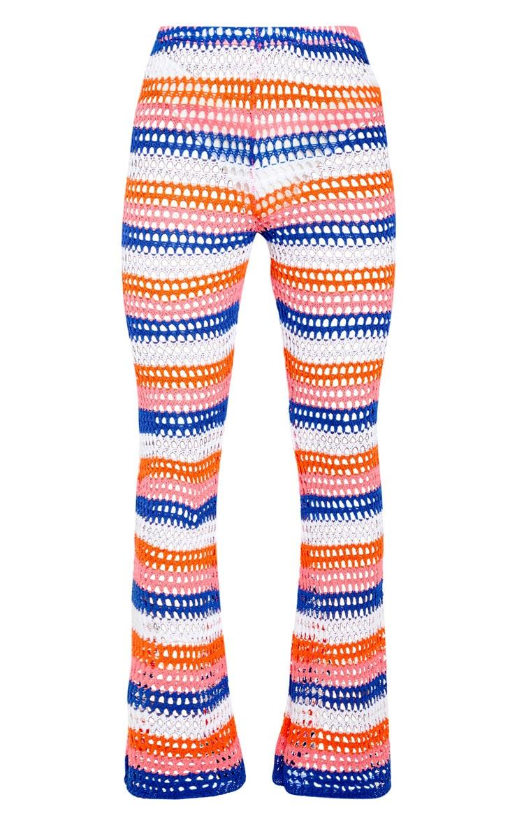 Pantalon en crochet à rayures multicolores 3