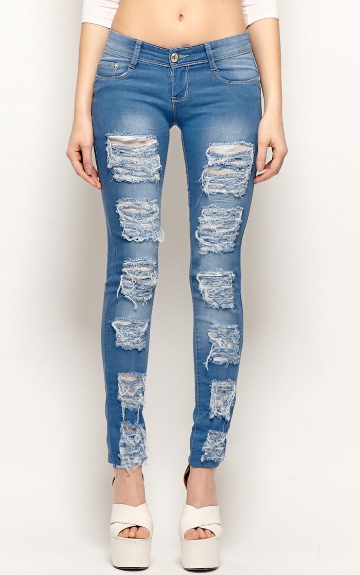 Danika Blue Ripped Skinny Jeans-40 3