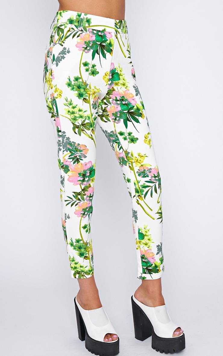 Kiki Cream Floral Print Trouser 3
