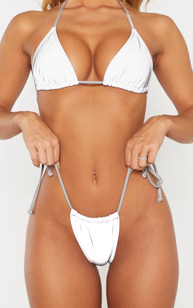 Reflective Adjustable Tie Side Bikini Bottom 6