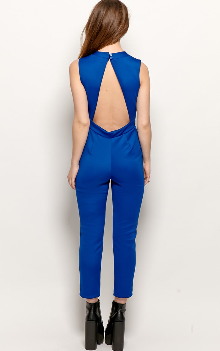 Selene Royal Blue Cut Out Jumpsuit 2