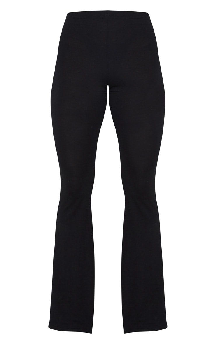 Basic Black Jersey Flared Pants 5