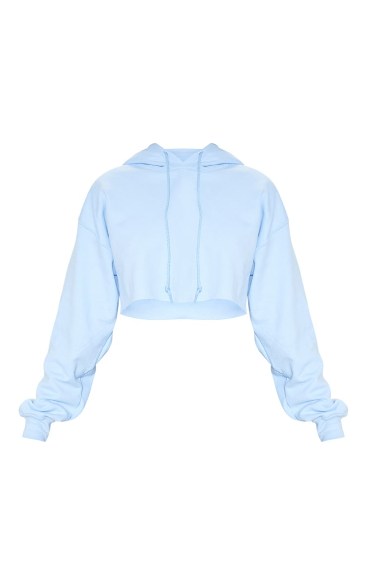 Baby Blue Ultimate Oversized Crop Hoodie  3