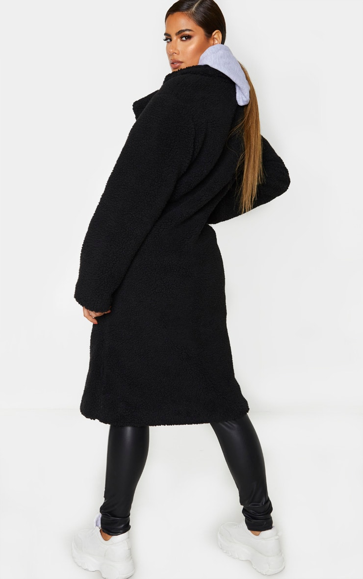 Tall Black Borg Midi Coat 2