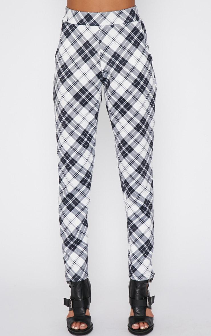 Riva Monochrome Tartan Trouser  2