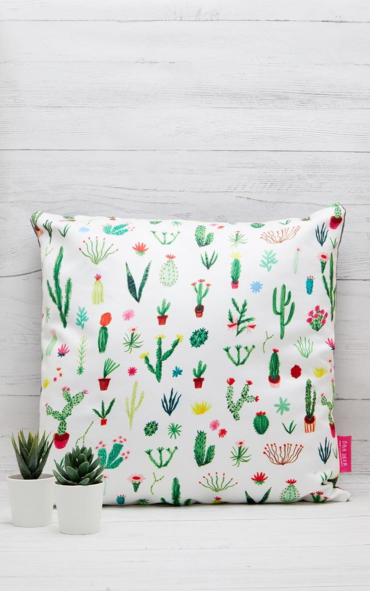 White Cacti Cushion 1