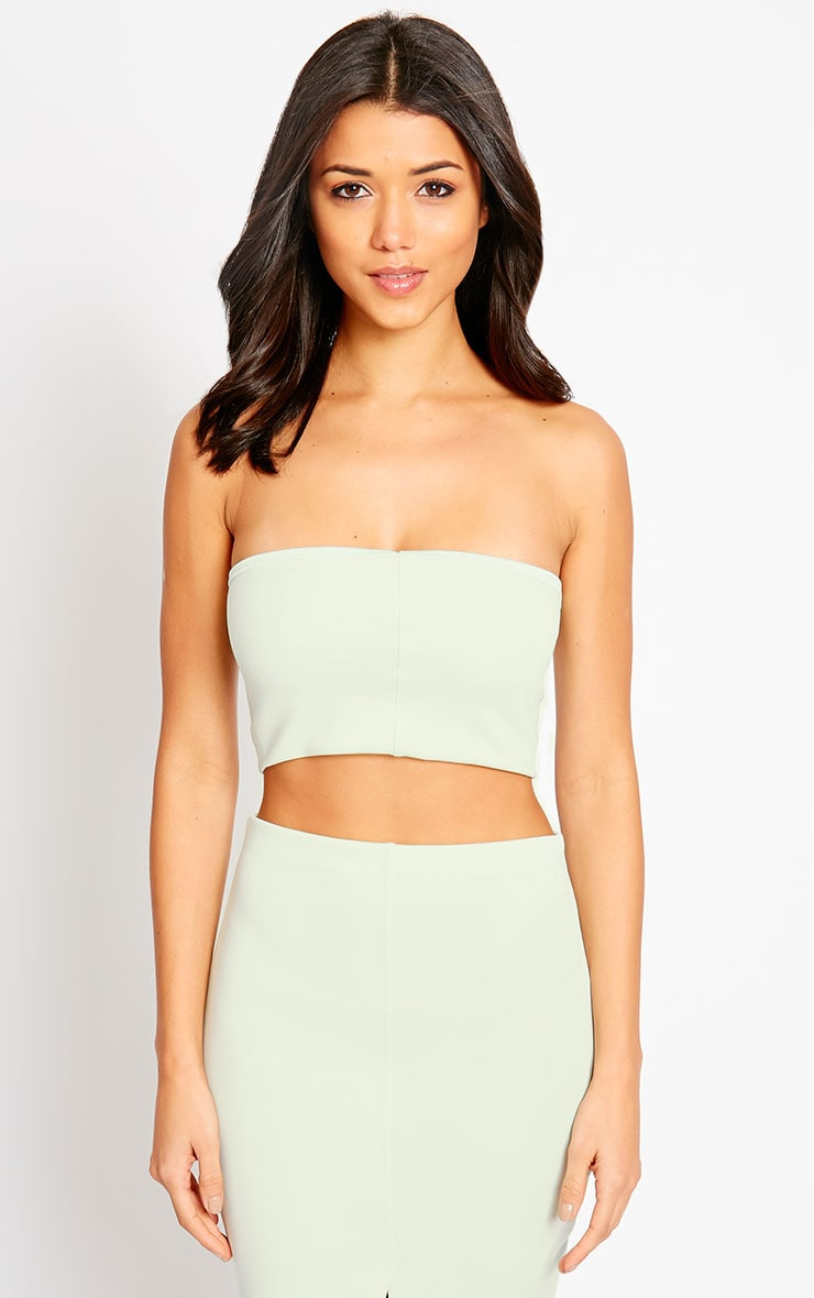 Kaja Mint Scuba Bandeau Crop Top 5