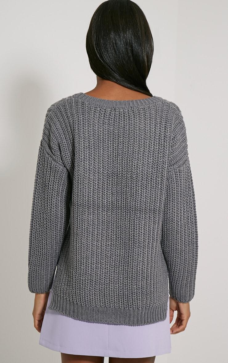 Jada Grey Knitted Jumper 2
