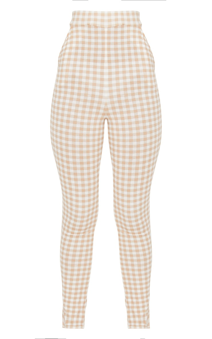Nude Gingham Skinny Trousers 3