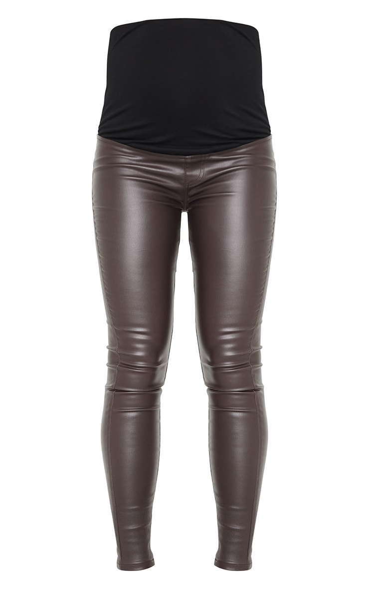 Maternity Chocolate Coated Skinny Jeans 5