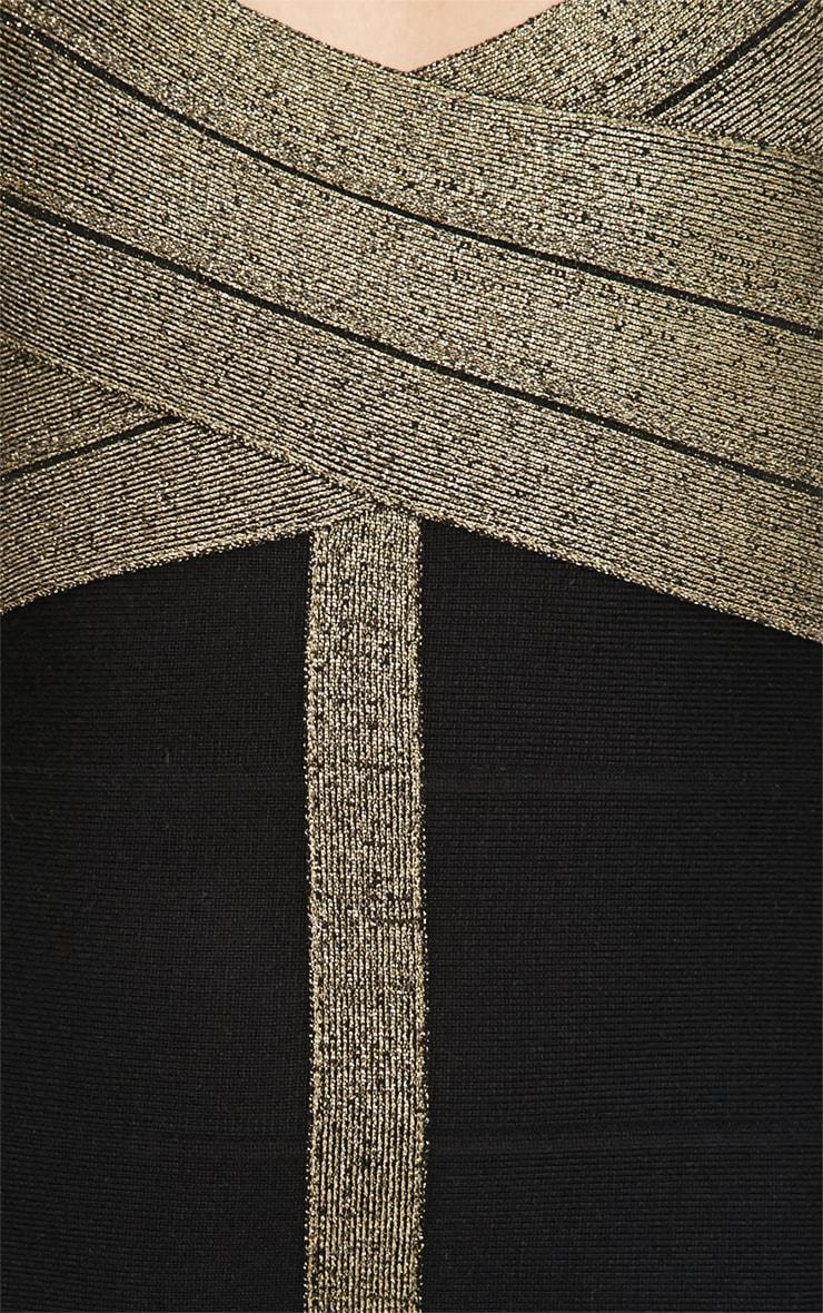 Koren Black and Gold Bandage Dress 5