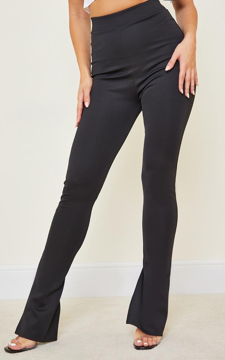 Tall Black Back Split Hem Pants 2