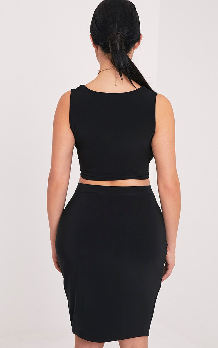 Shape Sareena Black Wrap Back Crop Top 2